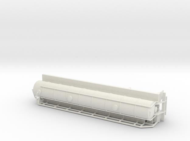 S-scale 1/64 Troxell 130 Crude Oil Trailer in White Natural Versatile Plastic