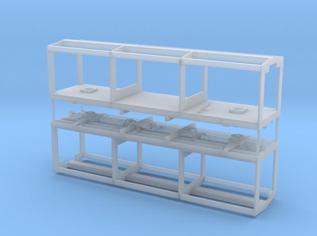 Box Car 602 (Pair) in Smooth Fine Detail Plastic