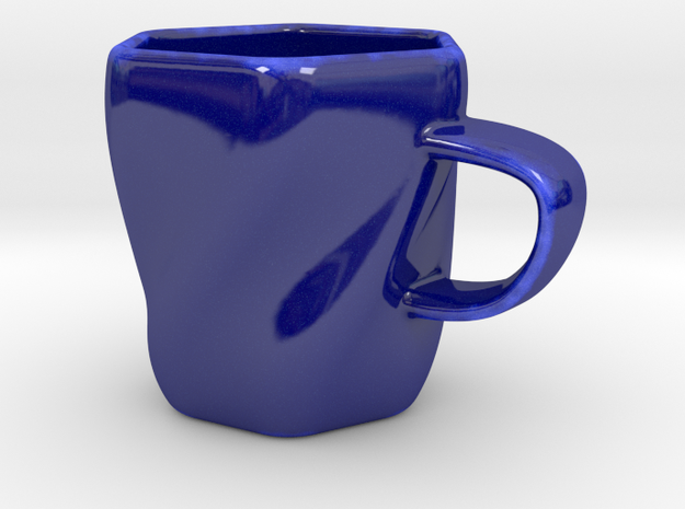 Espresso Coffee Cup in Gloss Cobalt Blue Porcelain