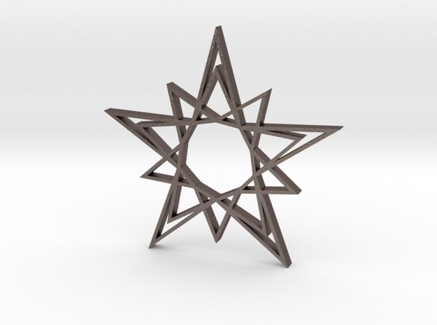 Arabesque: Solar Star in Polished Bronzed Silver Steel