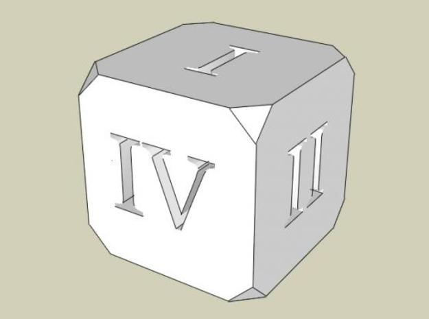 Hollow Dice Roman 3d printed SketchUp