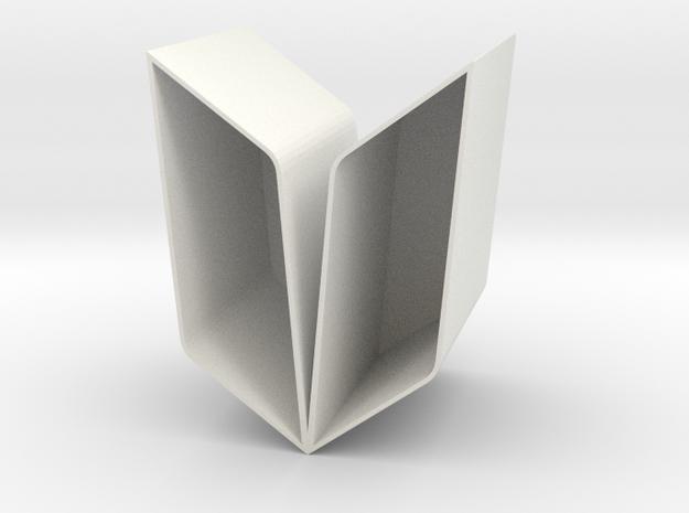 YOUNG Vase-Planter Modular Thin in White Strong & Flexible