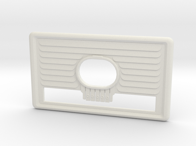 Fallout 4 radio Face Plate in White Natural Versatile Plastic