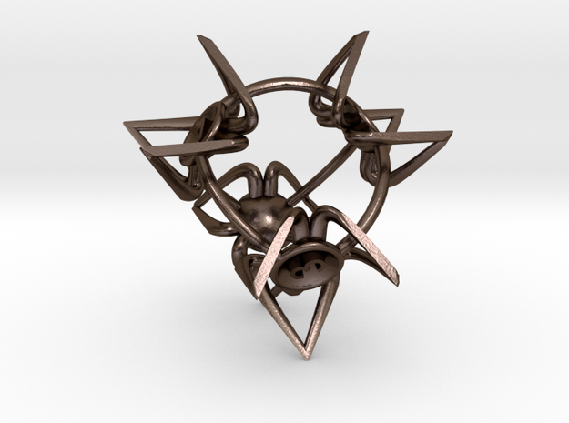 Crowns D4 in Polished Bronze Steel