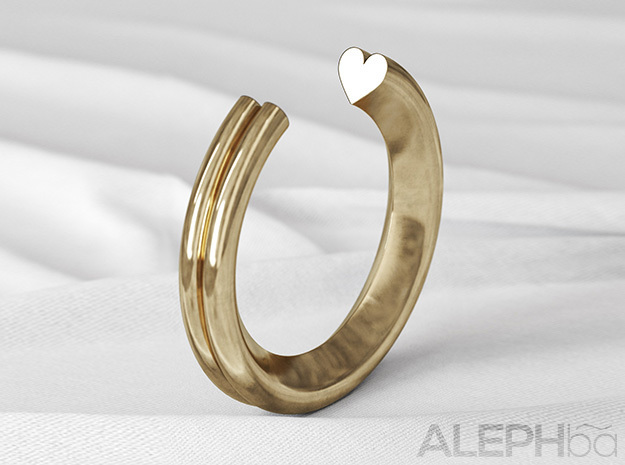 Heart Ring in Natural Bronze: 6 / 51.5