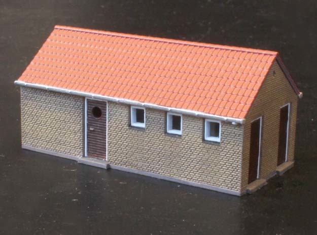 Kolonne Hus N scale in Smooth Fine Detail Plastic