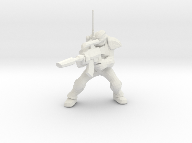 1/60 Ghost Nuclear Weapon Launching Pose in White Natural Versatile Plastic