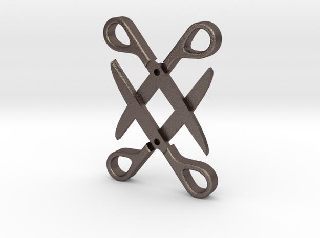 Sapphic: Scissor pendant in Stainless Steel