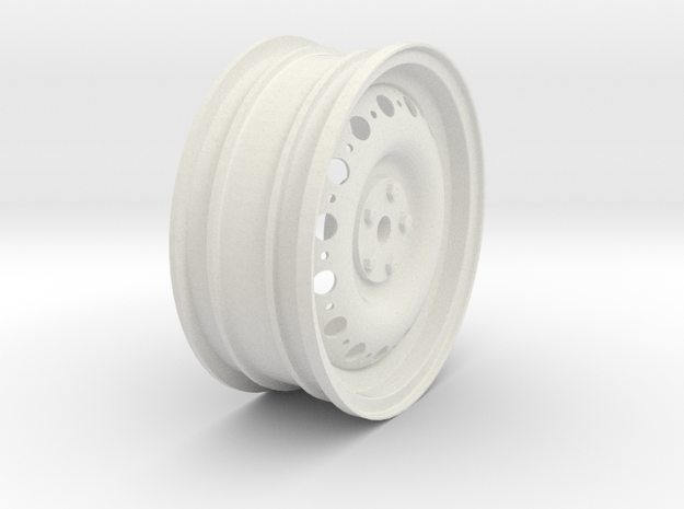 DunlopWheel in White Natural Versatile Plastic