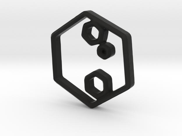 Hexagonal Mist in Black Strong & Flexible