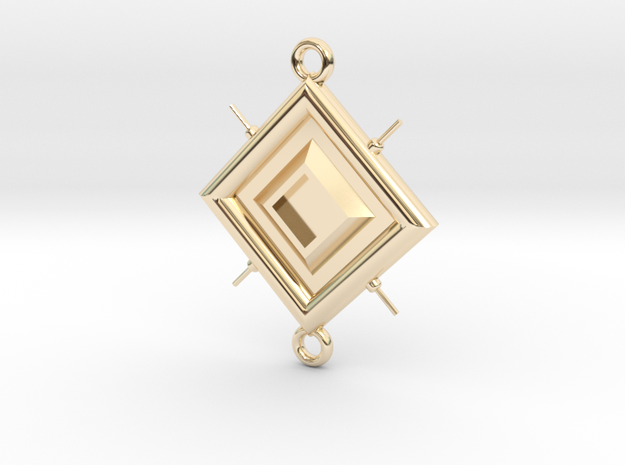 Pendant Leonardo in 14k Gold Plated Brass