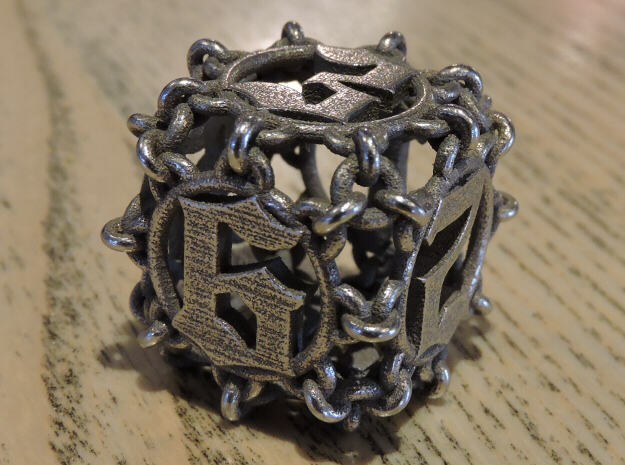 Chained D6 for steel in Stainless Steel