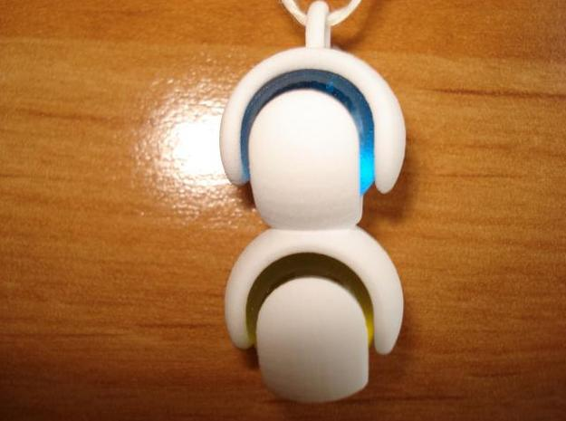 Double Marble Pendant 3d printed Picture of the actual printed object