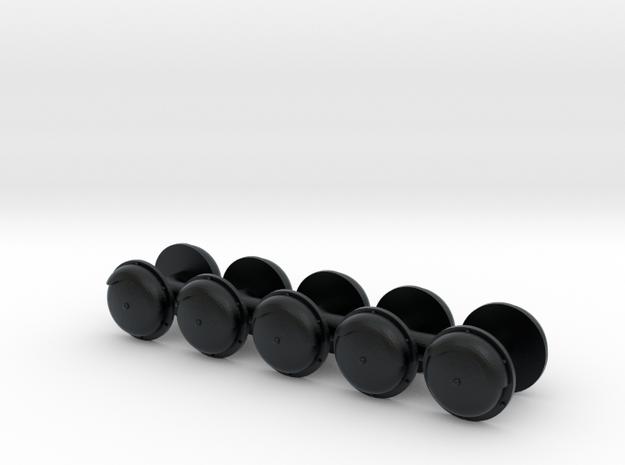 CNW Gong Bells (N) in Black Hi-Def Acrylate