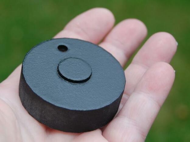 knob10 3d printed black rubber control knob