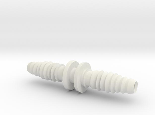 Tube connector for 10 (inner diameter) /12 (outer  in White Natural Versatile Plastic