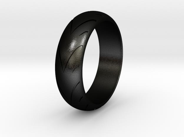 Raban - Racing  Ring in Matte Black Steel: 6.25 / 52.125