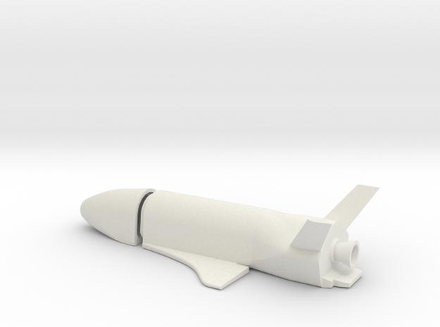 1/30 BOEING USAF X-37B SPACE PLANE in White Natural Versatile Plastic