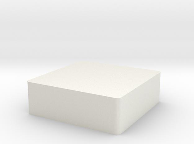 Letter in White Natural Versatile Plastic: 1:8