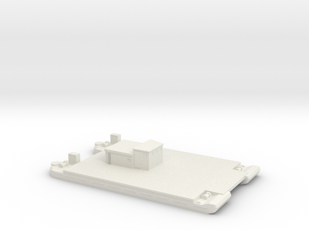 1/300 Siebel Ferry 40 Transport small deckhouse in White Strong & Flexible