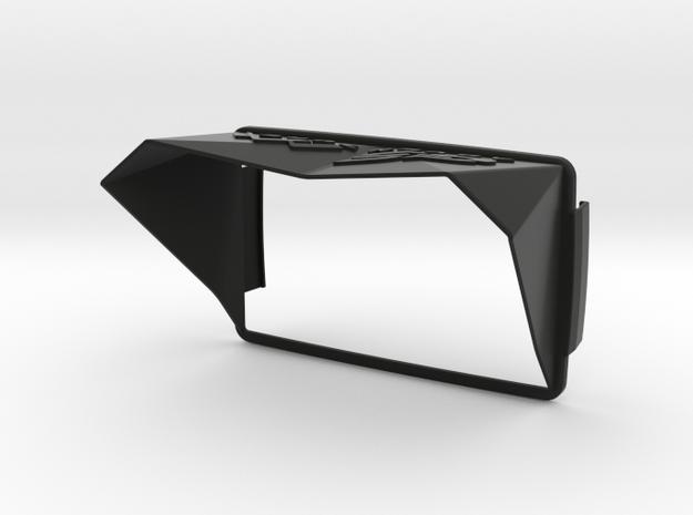 Sunshade (Clip-On) for BMW Navigator 6, GS-Logo in Black Natural Versatile Plastic