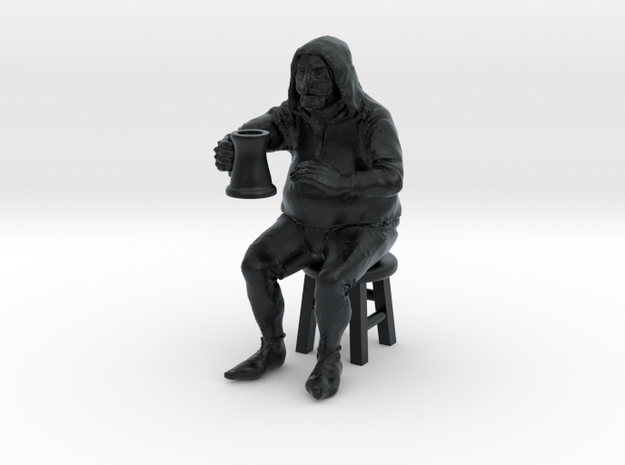 Bar patron, seated on stool. 1:48, 28/32mm scale.