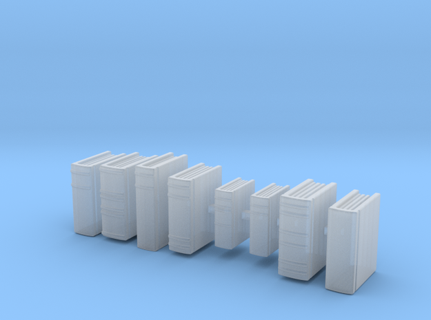 Books: Set of Books. Version 2 in Smooth Fine Detail Plastic