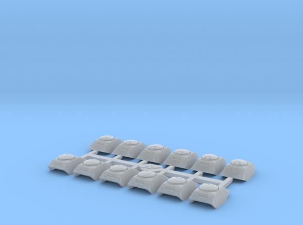Shoulder Pads November 1 in Smooth Fine Detail Plastic