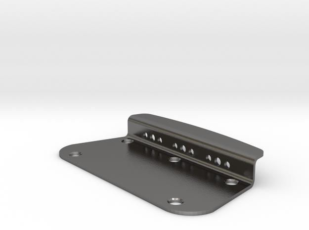 Duo Sonic style Bridge plate in Polished Nickel Steel