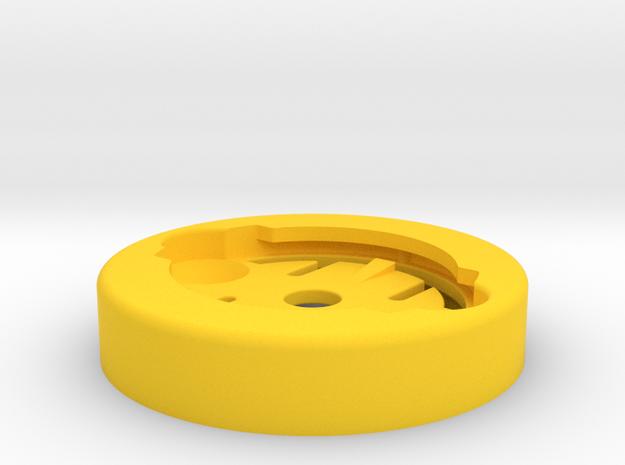 RecMount Garmin Socket Adapter in Yellow Processed Versatile Plastic
