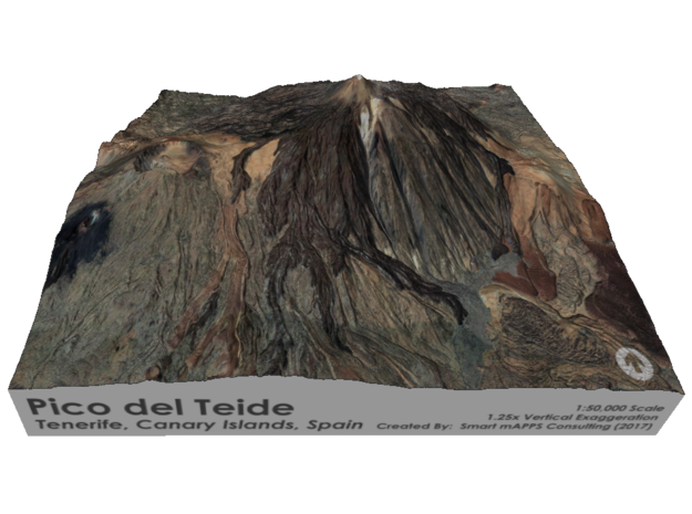 Pico del Teide Map, 1:50,000 in Coated Full Color Sandstone