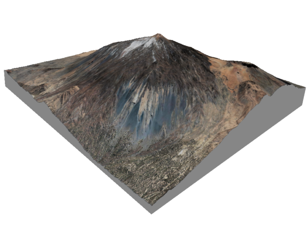 Pico del Teide Map, 1:30,000 in Matte Full Color Sandstone