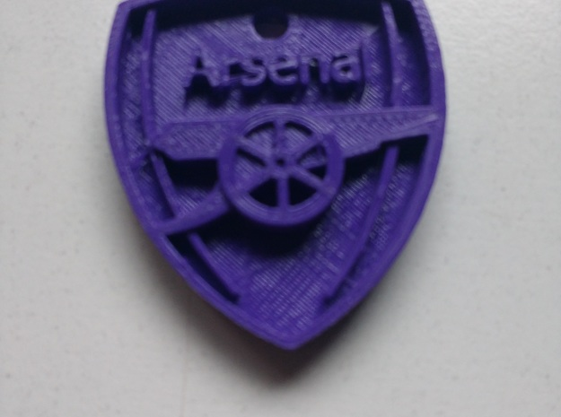 Arsenal FC Shield KeyChain in Stainless Steel