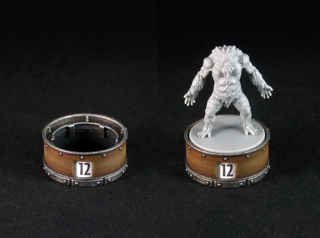 Point counter/mini base - 35mm (rotating)
