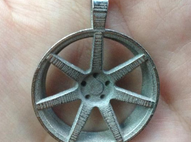 Vossen CV7 Flat KeyChain 35mm 3d printed In Stainless steel