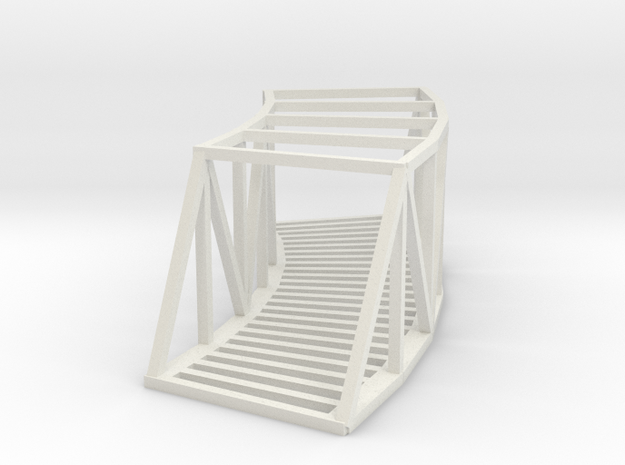 Curved Bridge - 145mm - Zscale in White Natural Versatile Plastic