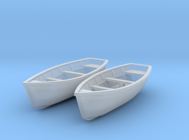 Wooden boat. HO Scale (1/87)