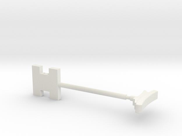 MG81Z Shoulder Stock 1:6 in White Natural Versatile Plastic