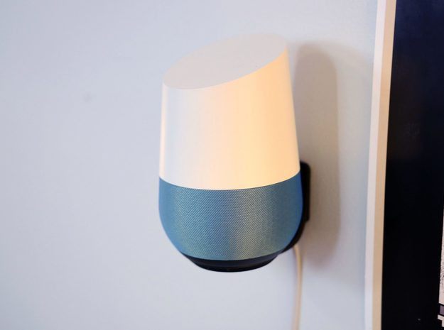 Levitating Google Home Wall Mount in Black Strong & Flexible