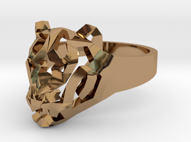 Star Tiger Ring in Polished Brass: 7 / 54