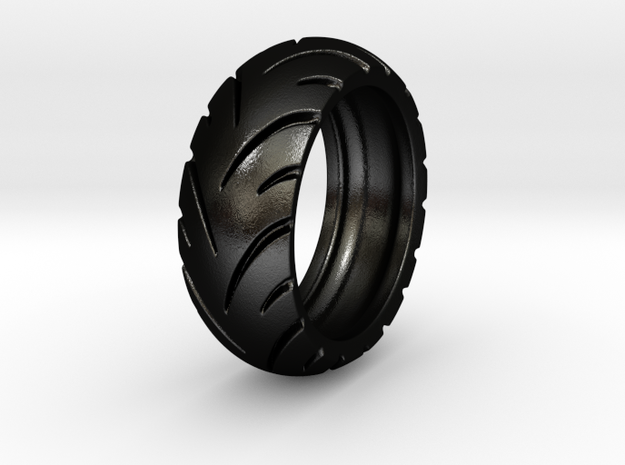 Ray Zing - Tire Ring Hollowed in Matte Black Steel: 6 / 51.5