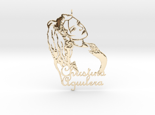 Christina Aguilera Pendant - Exclusive Jewellery in 14k Gold Plated Brass