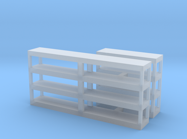 Shelving, Empty in Smooth Fine Detail Plastic