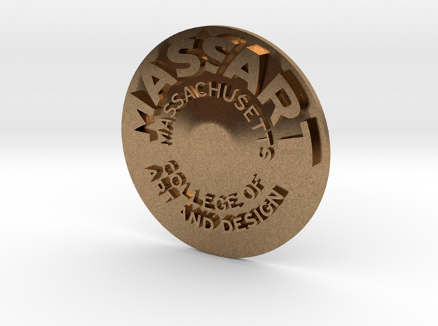 MassArt coin in Raw Brass