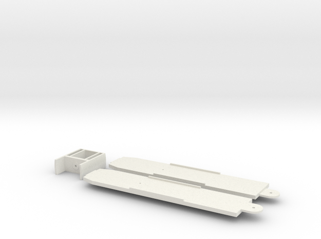 O Scale SD160 LRV Floor/Center Section Set in White Natural Versatile Plastic