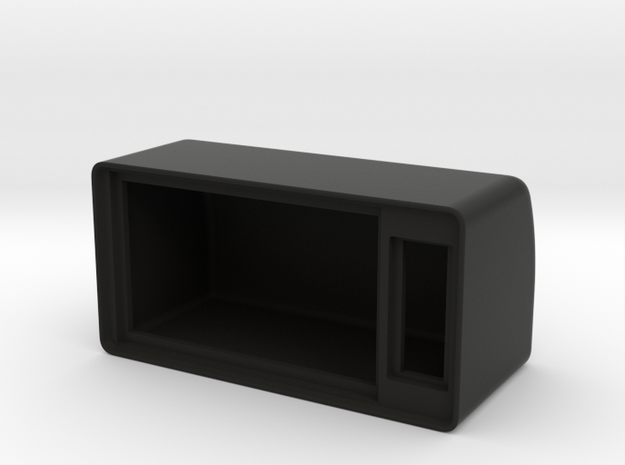 Mini panel gauge enclosure in Black Natural Versatile Plastic