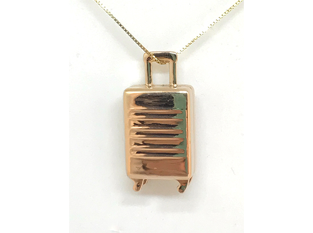 Customizable Trolley pendant in 14k Rose Gold Plated