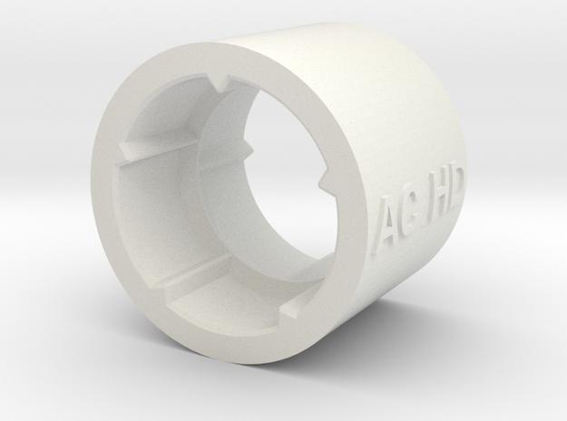 2017-extra-short-coupler in White Natural Versatile Plastic