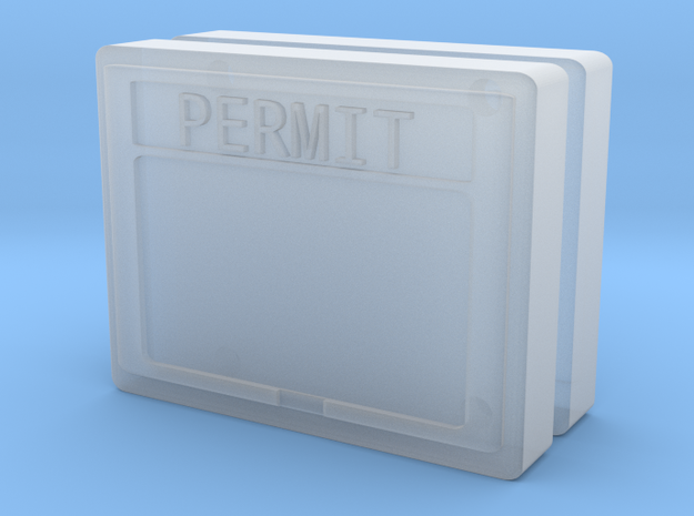 1:50 Permit box Diorama accessory set of two.  in Frosted Ultra Detail