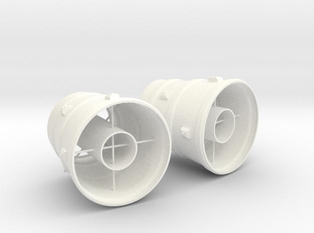1.10 TUYERES CHINOOK in White Processed Versatile Plastic